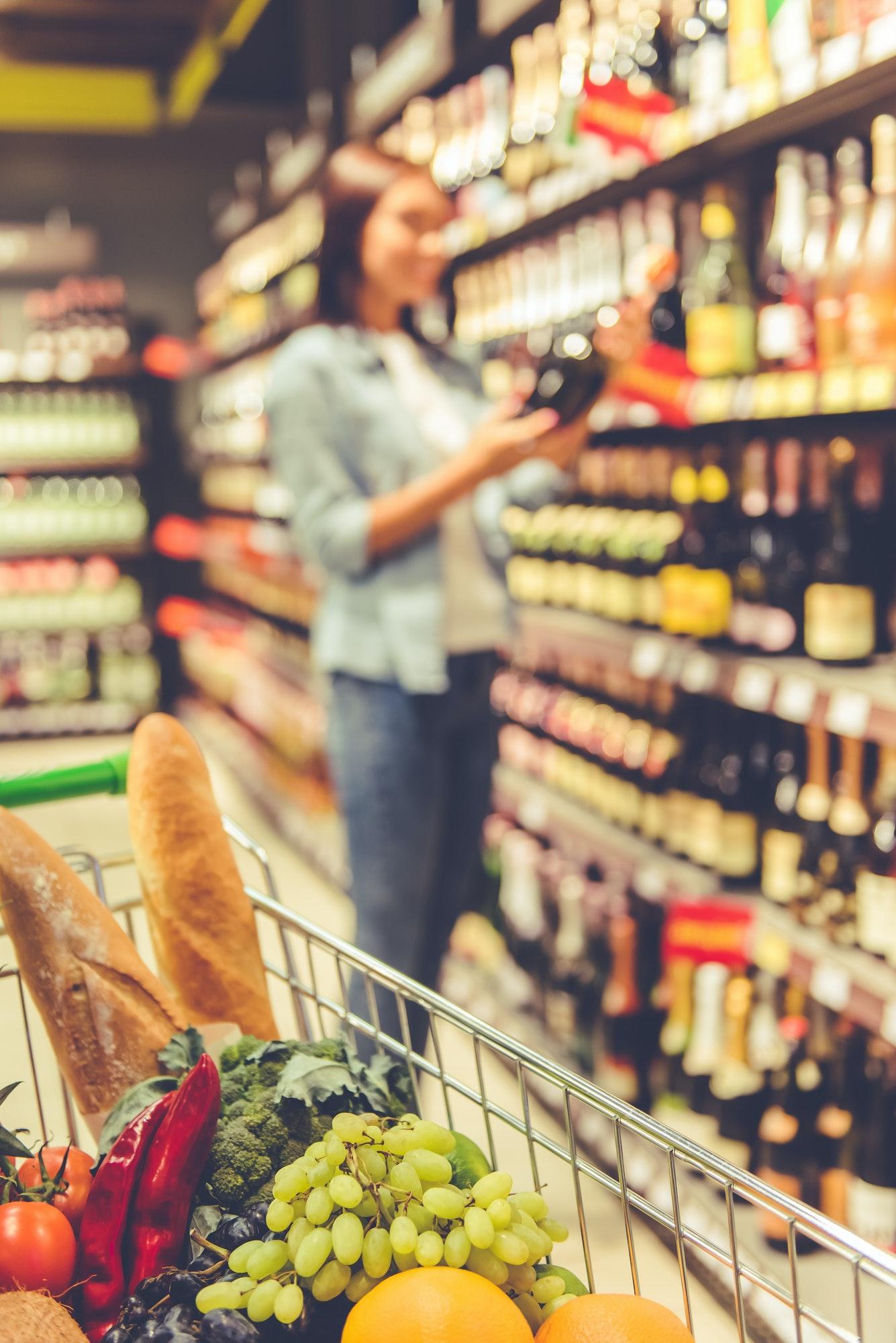 Girl in the supermarket